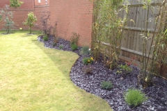 Slate border with plants