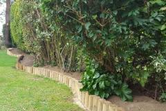 Timber pole edging